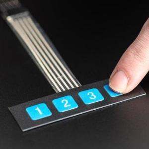 DC 12V 1x4 4 Key Matrix DIY Flat Membrane Pulsante Control Keypad