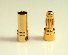 3.5mm 4.0mm Gold Bullet Banana Connettore Plug For ESC Batteria Motore
