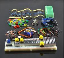 H008 Electronic Parts Pack Kit per Arduino, 830 breadboard,9g servos