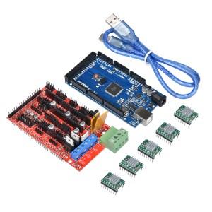 H034 Mega 2560 R3 + RAMPS 1.4 + 5X A4988 per Arduino RepRap (including Dissipatore)