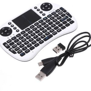 Mini i8 2.4G Wireless Tastiera with Touchpad for PC Pad Google Android TV Box USB