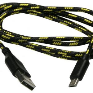 Micro USB Nylon Cavo Black