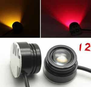 Green LED Lamp headlight Illuminator 12V 1.5W Night Navigation