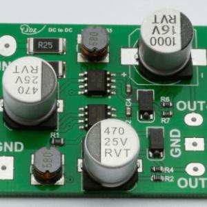 5V - 12V input +- 12V output, 5V to +- 12V 100ma DC-DC Convertitore board
