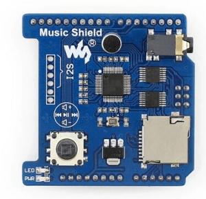 Angelelec DIY Open Sources Sensore, Music Shield, VS1053B Audio Play/Record