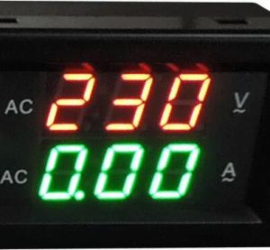 YB4835VA 500V 100A Split Dual LED Voltmetro Amperometro Digitale