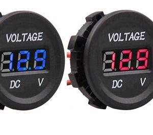 Impermeabile DC 12V 24V Voltmetro LED high - precision Digitale