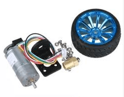 JGA25-371 DC Geared Motore 371 Motore Kit with Encoder DC12V350