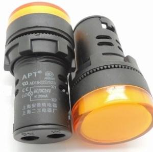 Spia luminosa da pannello Gialla AD16-22D/S 24V Foro 16MM