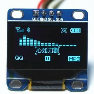 Modulo LCD blu OLED da 4,96 pollici con comunicazione IIC / I2C da 12864 pollici