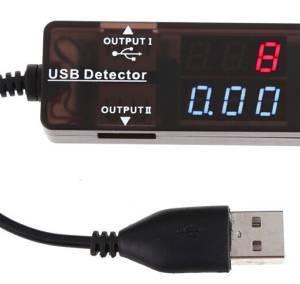 YB26VA Amperometro digitale rosso blu LED Amperometro doppio display 3,2-10 V Volt Amp