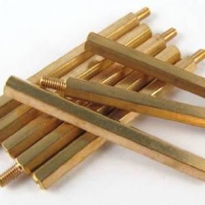 4 pezzi 40MM + 6 M3 filettati esagonali filettati in ottone