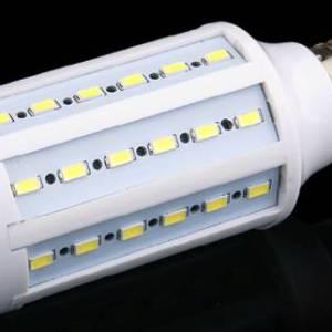 Lampada LED SMD E14 bianco caldo 25W 98Leds 5730