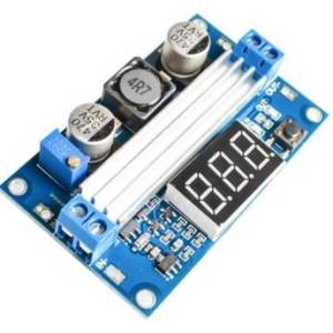 LTC1871 100 W 3-35 V 12V a 3,5-35 V Boost Step-up Modulo LED Voltmetro + Dissipatore di calore