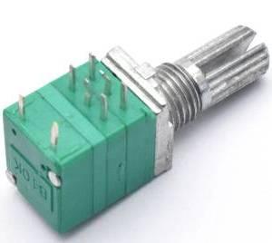 2 Pezzi RV097GS 6Pins Potenziometro doppio B100K con interruttore