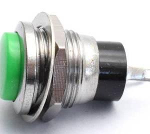 DS-318 / 12mm Botton / Green Nessun interruttore autobloccante