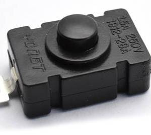 5 pezzi KAN-28 / 2pins 18 * 12 Switch / 1.5A 250V Self Lock Button