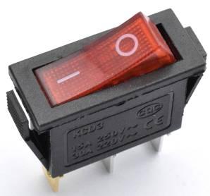 2 Pezzi Interruttore rotondo rosso KCD3 / Interruttore I / O 15A 250V KCD3-11-Y / 3pins
