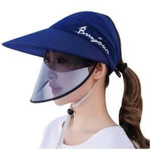 Cappello da sole antischiuma con film trasparente