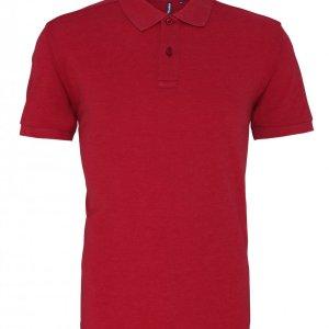 Mix Fabric Polo Shirt