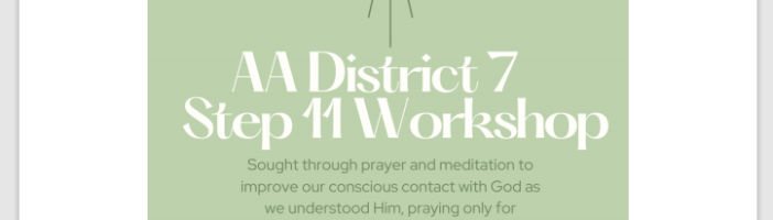 District 07 presents : Step 11 Workshop