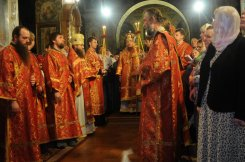 Фоторепортаж из Свято-Троицкого Ионинского монастыря о праздновании Светлого праздника Пасхи 123