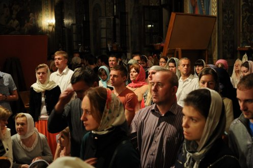 Фоторепортаж из Свято-Троицкого Ионинского монастыря о праздновании Светлого праздника Пасхи 335