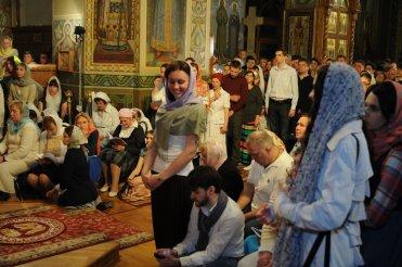 Фоторепортаж из Свято-Троицкого Ионинского монастыря о праздновании Светлого праздника Пасхи 354