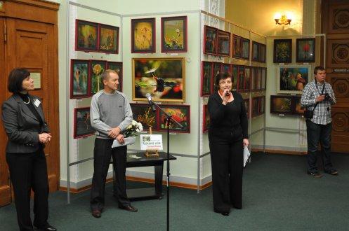 То, что радует глаз и где отдыхает душа. Выставка Вячеслава Мищенко в Национальной Парламентской библиотеке Украины. 14