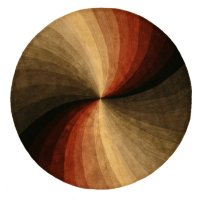 EORC SLMU Round Hand Tufted Wool Swirl Rug, 6-Feet