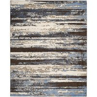 Safavieh Retro Collection RET2138-1165 Cream and Blue Area Rug, 8 feet by 10 feet (8' x 10')