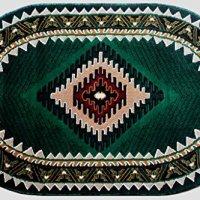 Southwest Native American Oval Area Rug Design Kingdom 143 Hunter Green (3 Feet X 4 Feet 6 Inch) Oval