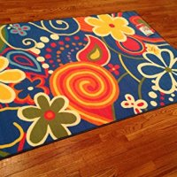 Whimsical Kids Area Rug -4'x6' Actual RUG Size Is 3'.10''x5'.6'' Nice Size - Printed Area Rug with Non Skid Backing 47 Inch X 65 Inch