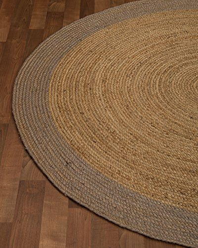 O NaturalAreaRugs Natural Fiber Bogota Jute Round Rug 6Feet By