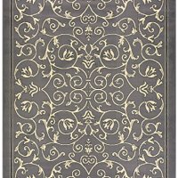 "Conur Collection Floral Scroll Area Rug Rugs Modern Contemporary Traditional Area Rug Rugs Veronica 3 Color Options (Grey, 4'11"" x 6'11"")"