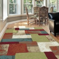 Universal Rugs Contemporary Abstract 5 ft. 3 in. x 7 ft. 3 in. Area Rug , Multi