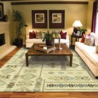 Modern Casual Turkish Kilim Style Rug 8x5 Cream Blue Beige Brown Area Rugs 5x7 Contemporary Rugs for Living Room Large Rugs for Bedroom and Dining Rooms, Medium 5x8 Rug