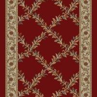 NEW Trellis Red Floral Design Rubber backed non-slip Area Rug Carpet 3x5