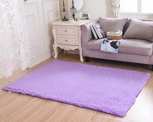 mbigm super soft modern shag area rugs purple living room carpet bedroom rug washable rugs solid