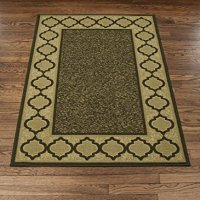 "Brown and Beige Contemporary Moroccan Trellis Design Non-Slip Area Rug (8'2"" X 9'10"")"