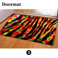 FOR U DESIGNS Stylish Tiger Skin Print Anti-slip Felt Rubber Indoor/outdoor Entrance Rug Doormat