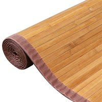 Yaheetech Bamboo Area Rug Carpet 5'x 8'/4' x 6'Brown Natural Bamboo Wood Floor Mat (8 x 5 ft)
