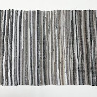 Uniifurn Color Stripe Rag Rugs for Kitchen, Bathroom, Entry Way, Laundry Room (More Color & Size Options Available) (Gray, 2x3')