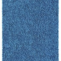 Soft Shag Area Rug 5x7 Plain Solid Color NAVY BLUE - Contemporary Area Rugs for Living Room Bedroom Kitchen Decorative Modern Shaggy Rugs