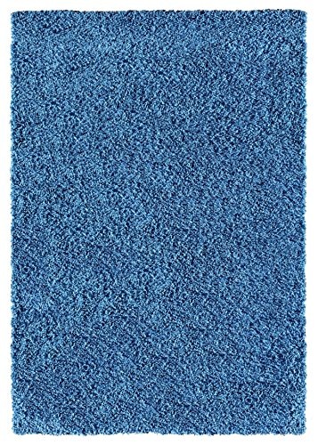 Soft Shag Area Rug 5x7 Plain Solid Color NAVY BLUE   Contemporary Area Rugs  For Living