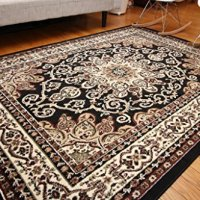 Generations New Oriental Traditional Isfahan Persian Area Rug, 9' x 12', Black