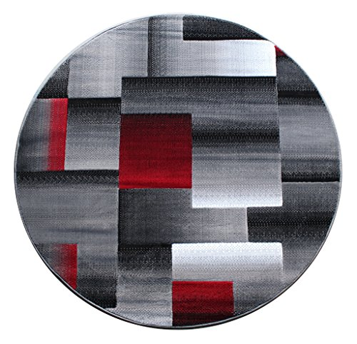 Kess InHouse Alison Coxon Tribal Fire Tan Red Digital Round Beach Towel Blanket