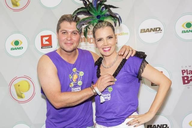Joel com a esposa (Kelly Fuzaro/Band)