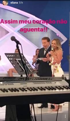 Silvio Santos e Eliana - Reprodução/Instagram