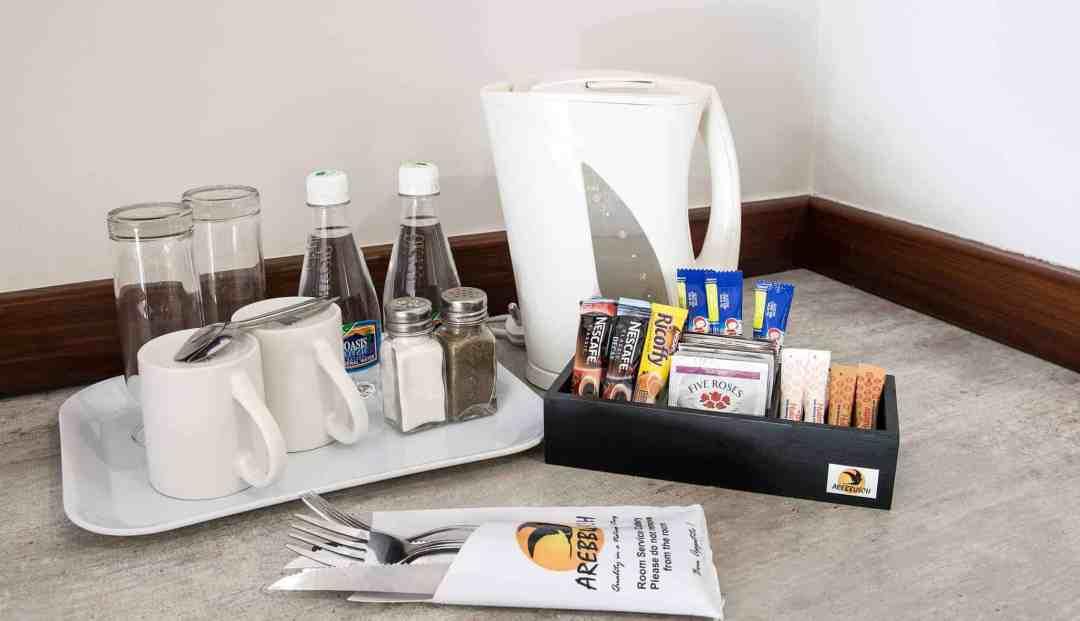 Standard Room | Coffee & Tea Station | Bed & Breakfast Accommodation In Windhoek |  Arebbusch Travel Lodge